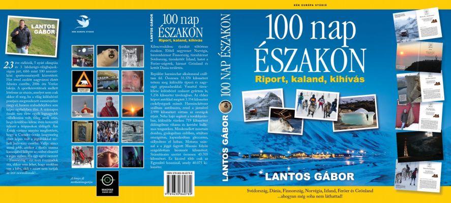 100 nap északon - könyvboritó design kiterítve