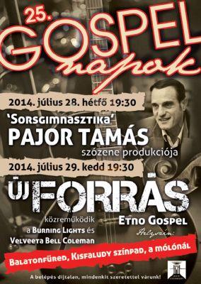 Gospel napok - plakát design 2014