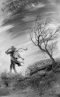 A vándor 1.  - olajfestmény illusztráció