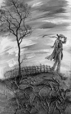 A vándor 3.  - olajfestmény illusztráció