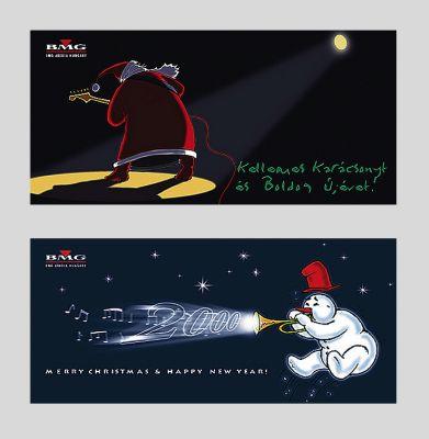 BMG - karácsonyi üdvözlőlapok