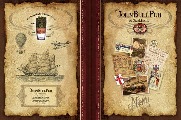 John Bull Pub - étlap borító 2.