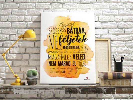 Biblia idézet, igés kép vászonra printelve