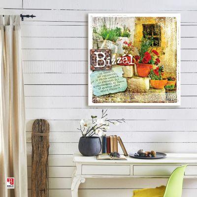 BP_021 Zsoltárok 37:3-4, vintage vászonposzter a falon