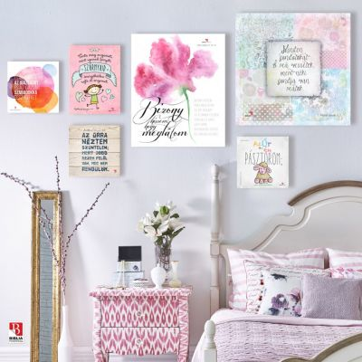 Biblia idézetek a lányos szoba falán