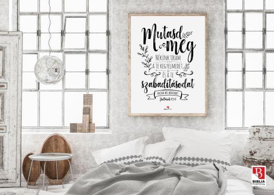 BP_290 Zsoltárok 85:8, keretezett igés kép