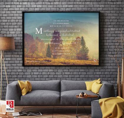 Biblia idézet, igés kép a falon