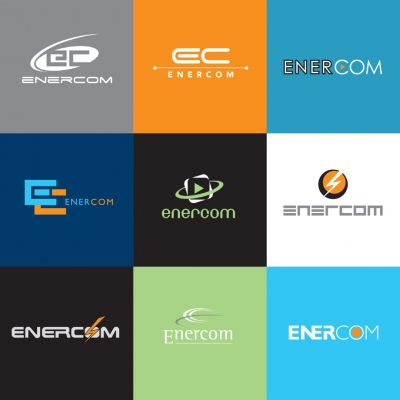 Enercom - logó design variációk