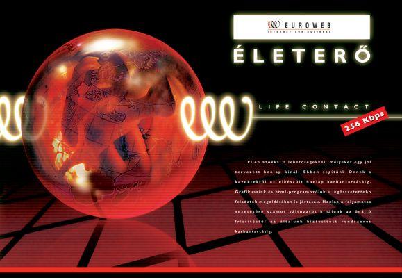 Euroweb - hirdetés design 2001
