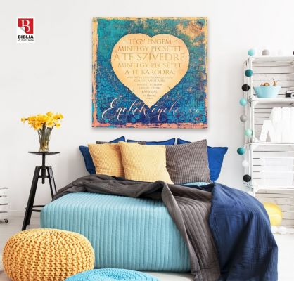 Biblia idézet, igés kép vászonra printelve a falon