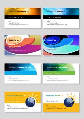 Névjegykártya design - variációk