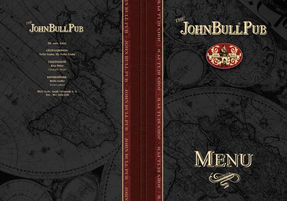 John Bull Pub - étlap borító 3.