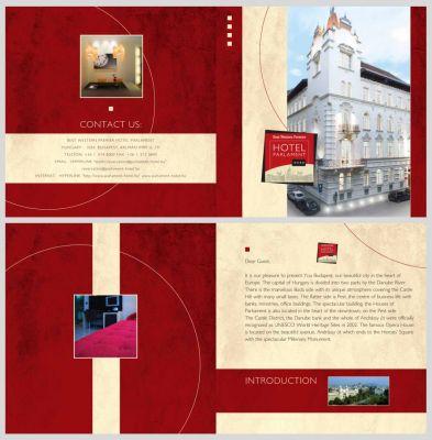 Hotel Parlament - Bemutatkozó kiadvány kiterítve 1.