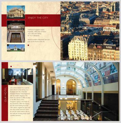 Hotel Parlament - Bemutatkozó kiadvány kiterítve 2.