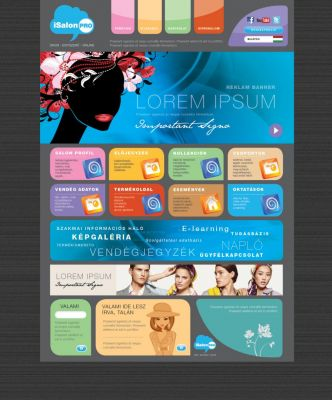 iSalon - logó és website design 1.