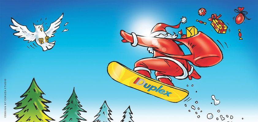 Duplex- Karácsonyi üdvözlőlap