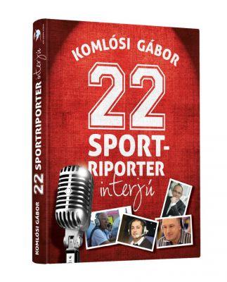 22 Sportriporter interjúk - könyvboritó design