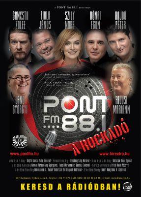 PontFM rádió - promociós plakát design 2008
