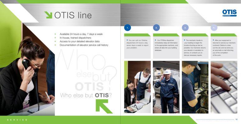 OTIS - prospektus oldalpár design