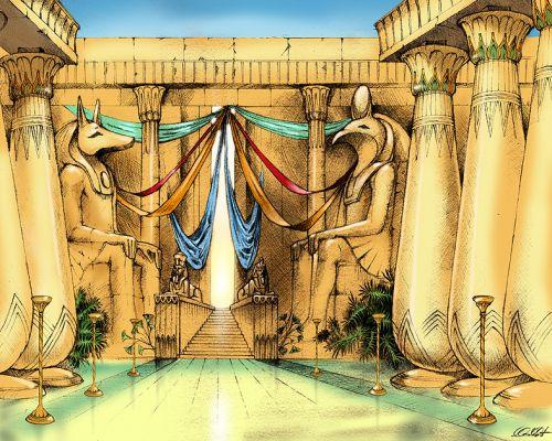 Egyiptomi palota - látványterv