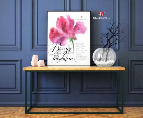 Igés kép akvarell virágos festmény