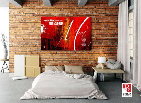 Igés festmény tégla falon