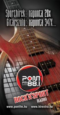 PontFM rádió - hirdetés design 2008