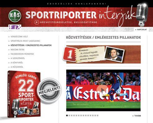 22 Sportriporter interjúk - website design