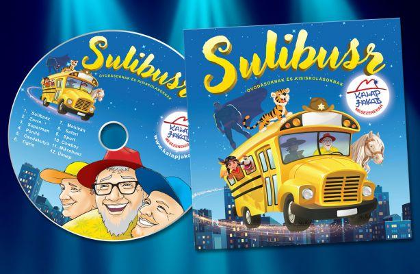 Kalap Jakab - Sulibusz - CD borito design