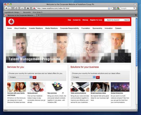Vodafon Talent Management Programme - promociós design
