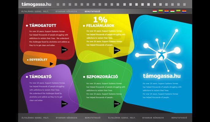 Támogassa.hu - logó és website design
