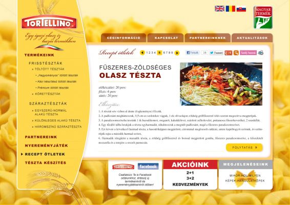 Tortellino - website design