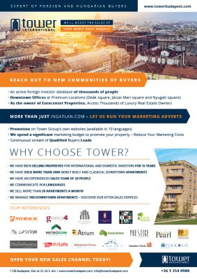 TOWER - Promociós szórólap A4 - hátsó oldal