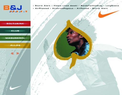 B&J Sport - website design 2002