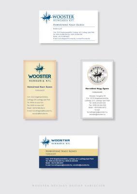 Wooster névjegy design variációk 1.