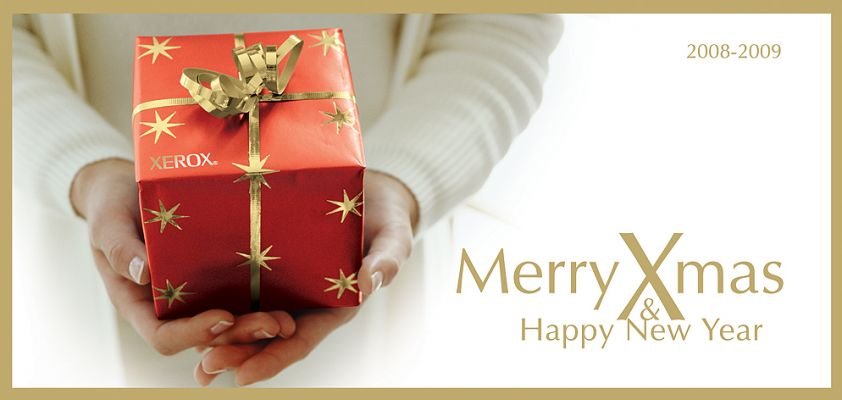 Xerox - karácsonyi üdvözlőlap design