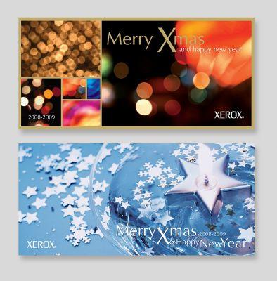 Xerox - karácsonyi üdvözlőlap tervek