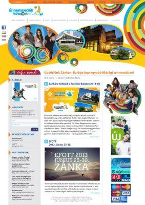 Új Nemzedék Központ - website design